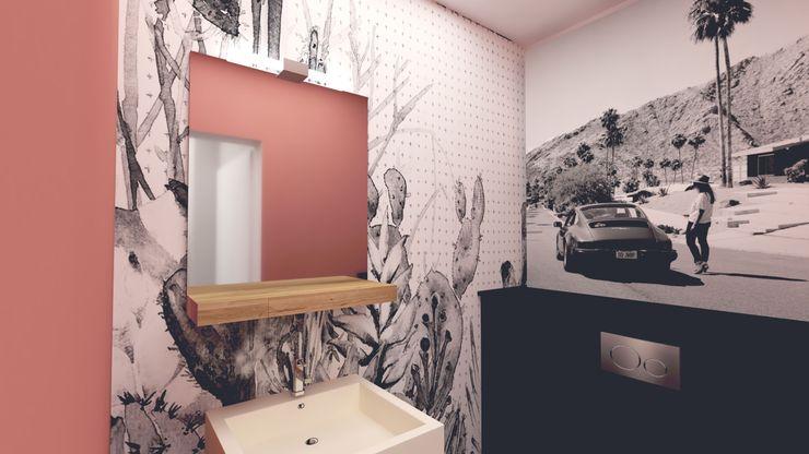 Wohnungs-Makeover - Badezimmer Innenarchitektur Federleicht Moderne Badezimmer Pink
