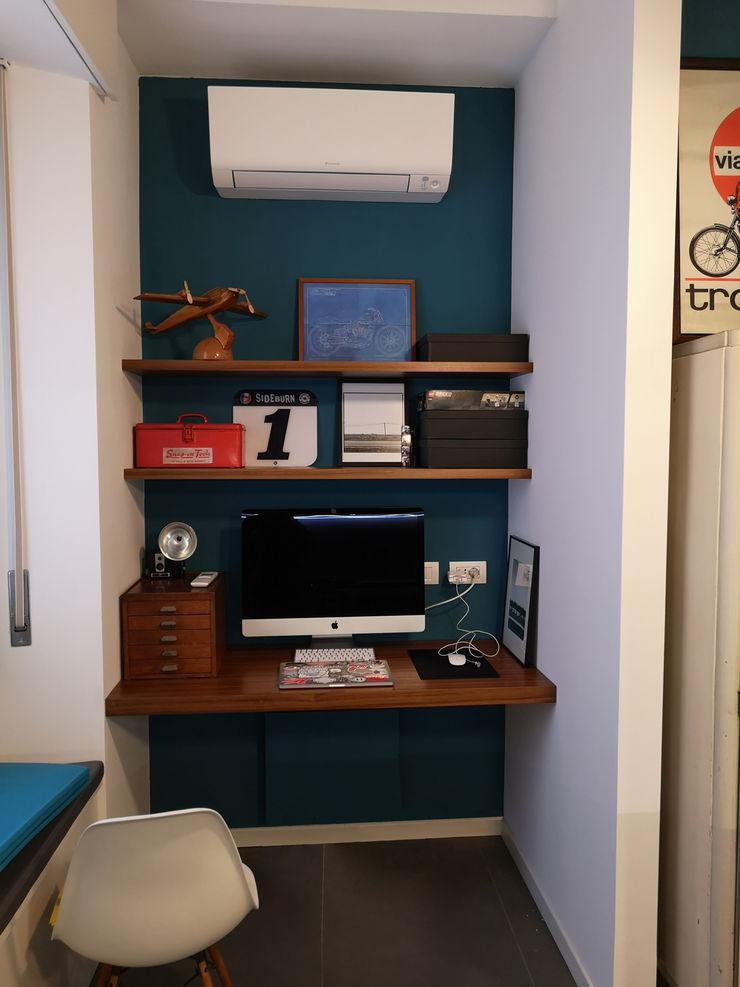 Angolo studio per smart working Studio Zay Architecture & Design Studio eclettico Legno Verde