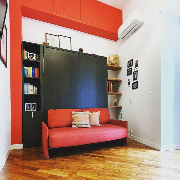 Camera ospiti arch. Lorenzo Criscitiello Camera da letto piccola Rosso