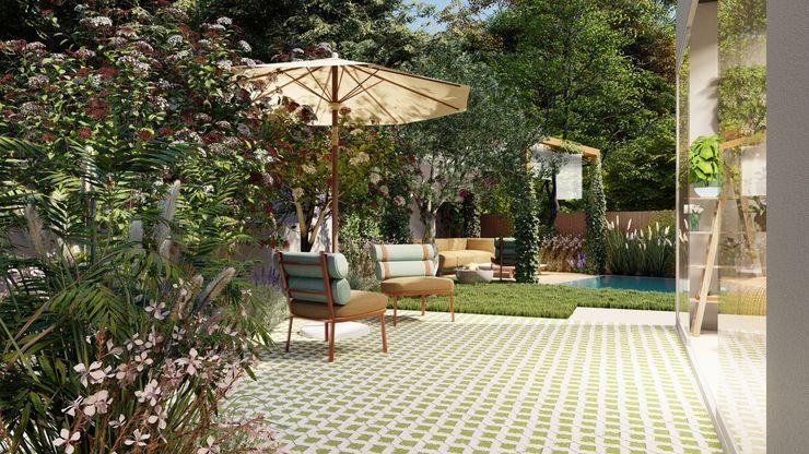 Da casa para o jardim: grandes ideias para espaços pequenos CatarinaGDesigns Jardins mediterrânicos