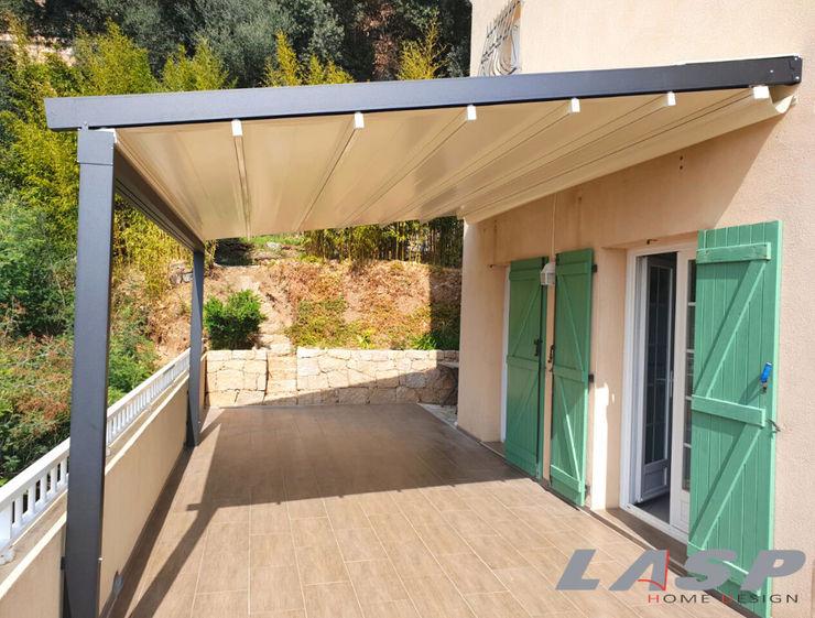 Pergò la pergola facile e veloce da montare LASP Balcone, Veranda & Terrazza in stile moderno Alluminio / Zinco