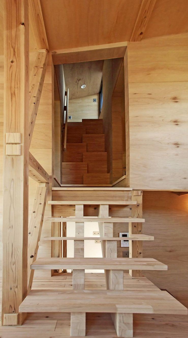階段 岩瀬隆広建築設計 階段 無垢材 木目調