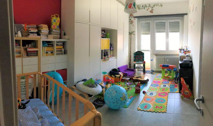 Studio prima dell'intervento Silvia Camporeale Interior Designer Studio moderno Legno composito Bianco
