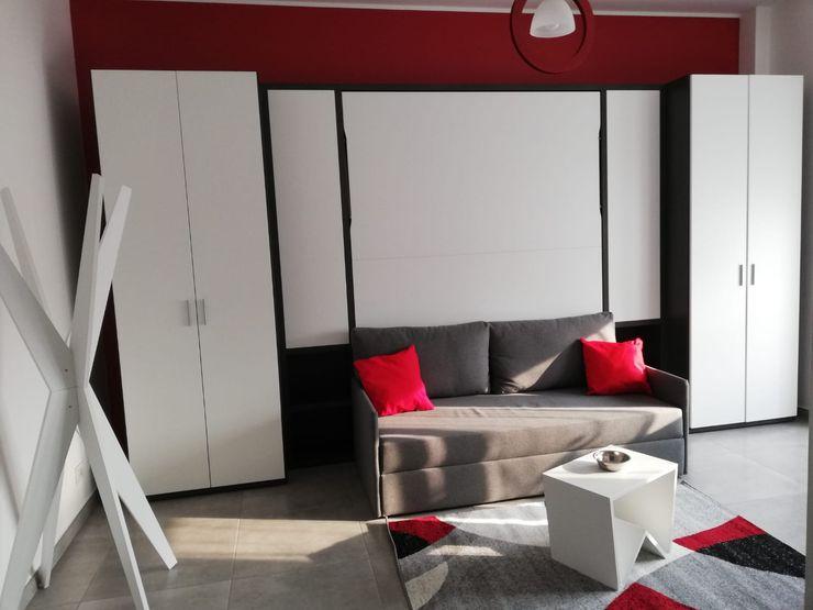 Realizzazione finale dello studio Silvia Camporeale Interior Designer Studio moderno Legno composito Bianco