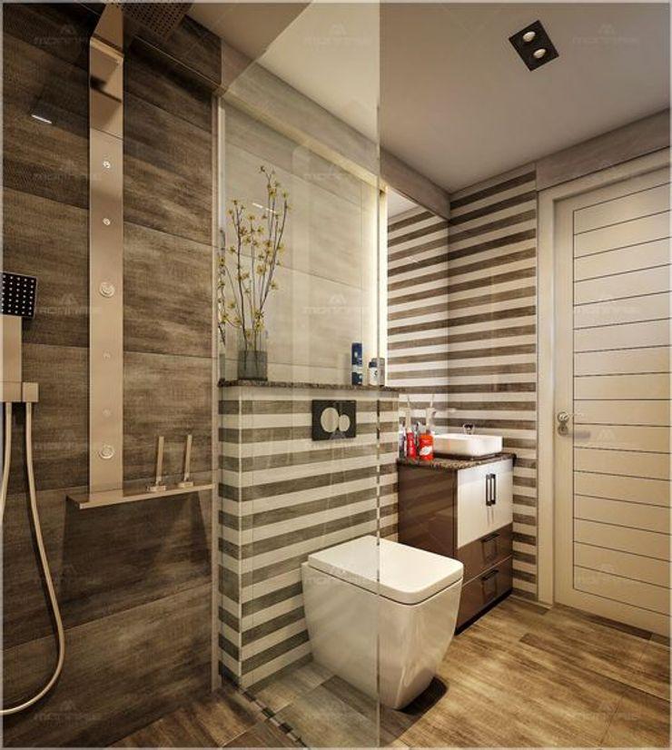 Monnaie Interiors Pvt Ltd Ванна кімнатаВанни та душові Дерево Дерев'яні
