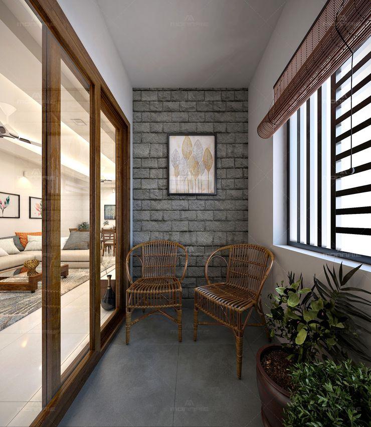Monnaie Interiors Pvt Ltd Вікна & Дверi Дверні ручки та аксесуари Дерево Дерев'яні