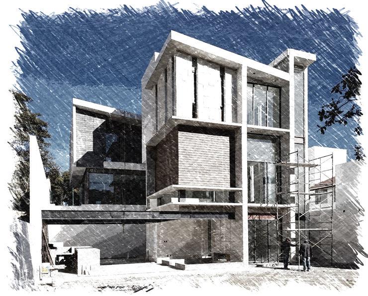 Arqcubo Arquitectos Modern Houses Wood White