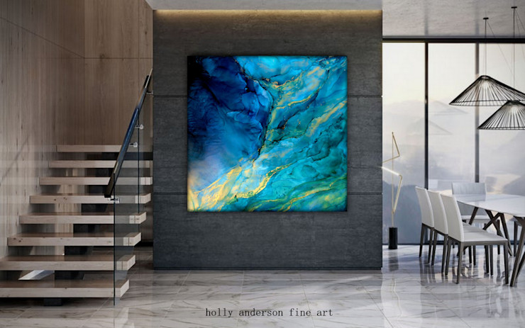 Holly Anderson Fine Art Salon moderne Bleu
