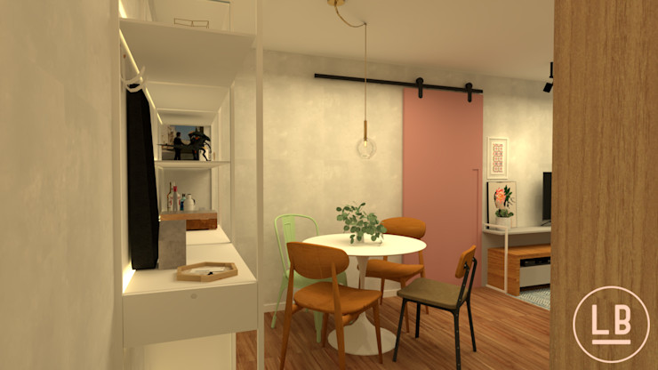 baia LJ132 laBaia arq+simples Salas de jantar ecléticas Multi colorido