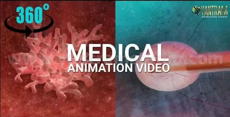 360° Panoramic interactive virtual tours of 3D Medical Animation by Virtual Reality Studio - Columbus, Ohio Yantram Architectural Design Studio Corporation Modern study/office
