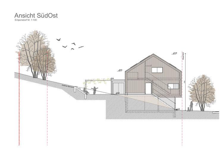 Neubau EFH steppe architekten Moderne Häuser