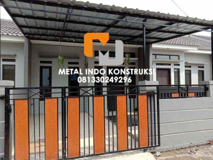 Metal Indo Konstruksi Гаражі та навіси Алюміній / цинк Білий