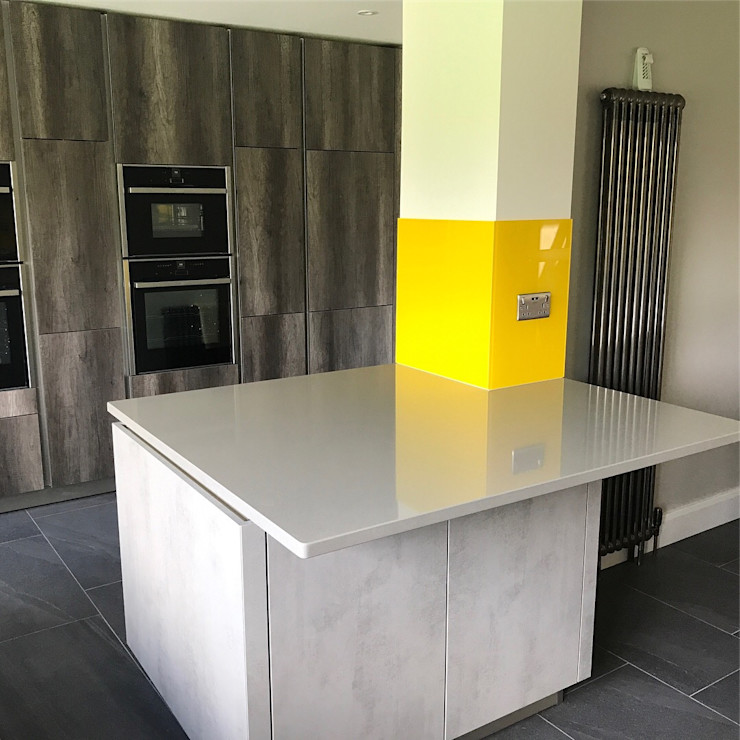 Hayling's Kitchen Splashbacks Glass Structures Limited CocinaAccesorios y textiles