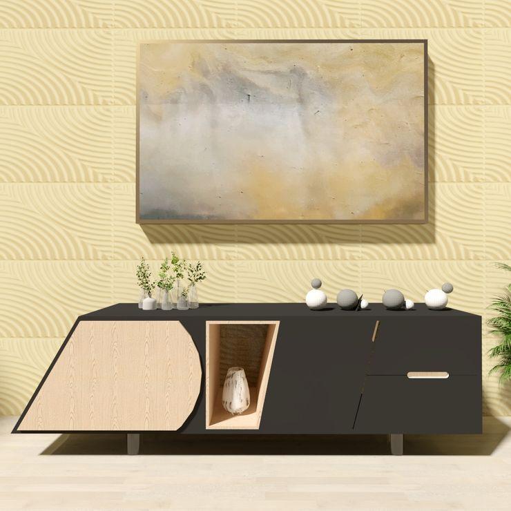 Mueble Modernista Escandinavo Irving Couto | Diseño de Muebles y Decoración de Interiores Salones escandinavos Madera Negro