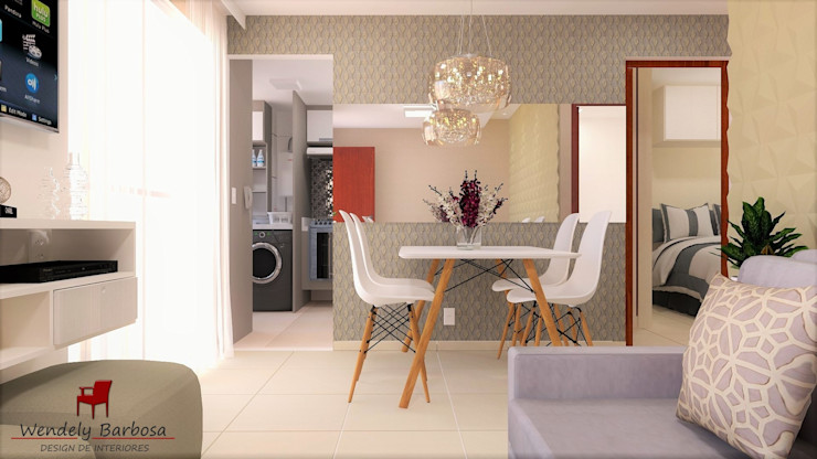 Wendely Barbosa - Designer de Interiores Salas modernas