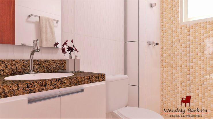Wendely Barbosa - Designer de Interiores Baños de estilo moderno