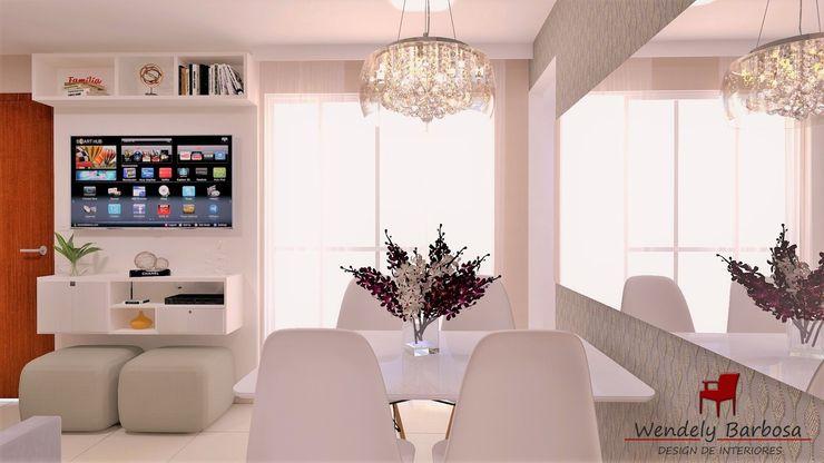 Wendely Barbosa - Designer de Interiores Comedores de estilo moderno