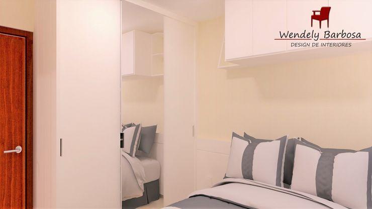 Wendely Barbosa - Designer de Interiores Habitaciones pequeñas