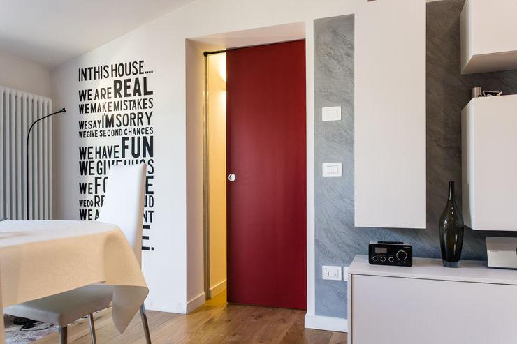 FAPI SERRAMENTI Sliding doors Wood Red