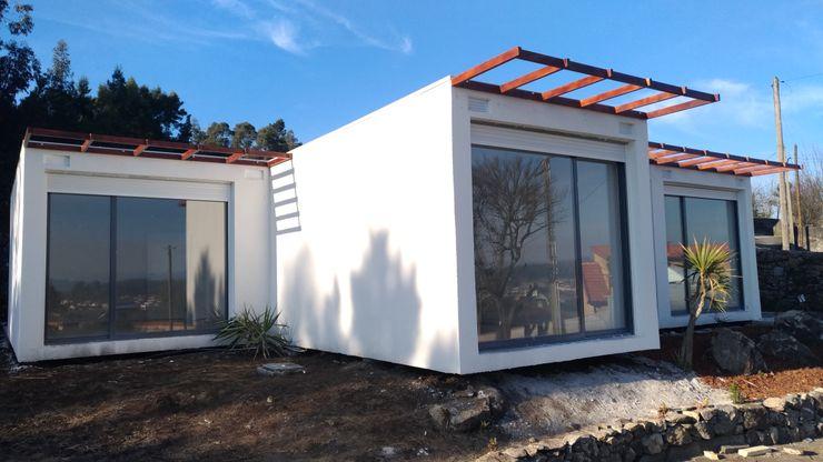 BLOC Casa Modular / Moradia T4 com 140 m2 - Vista lateral esq BLOC - Casas Modulares