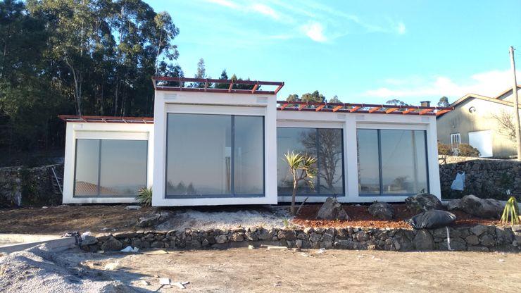 BLOC Casa Modular / Moradia T4 com 140 m2 - Vista frontal BLOC - Casas Modulares