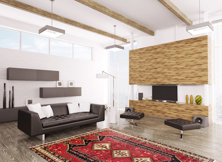 Persian House Classic style living room Bamboo Red