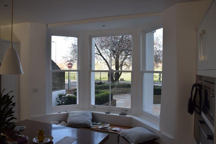 Sash window bay Repair A Sash Ltd Wooden windows Engineered Wood White