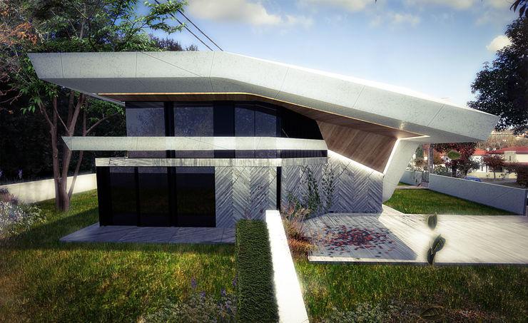 Habitação Unifamiliar Isolada T3 - Sculptural Fragment Office of Feeling Architecture, Lda Casas unifamilares