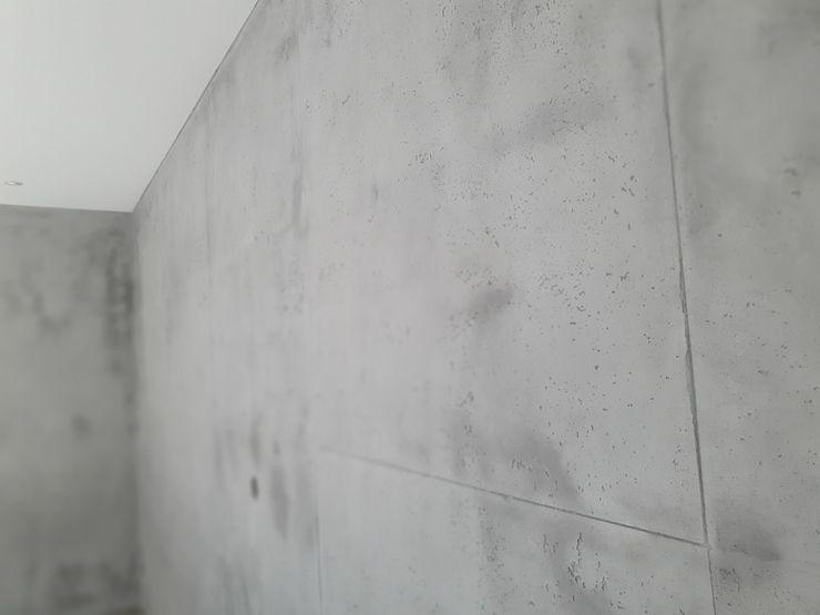 malermeister klaudius kurtz Industrial style living room Reinforced concrete Grey