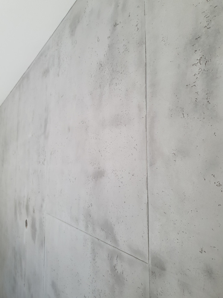 malermeister klaudius kurtz Industrial style living room Concrete Grey