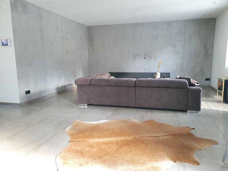 malermeister klaudius kurtz Minimalist living room Concrete Grey