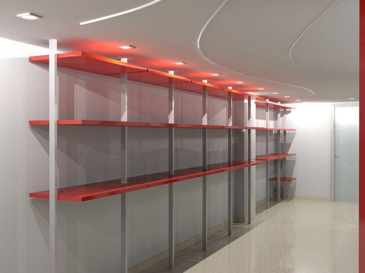 RISTRUTTURAZIONE NEGOZIO ABBIGLIAMENTO ANGRI - INTERNI Seven Project Studio Negozi & Locali commerciali moderni Legno Variopinto