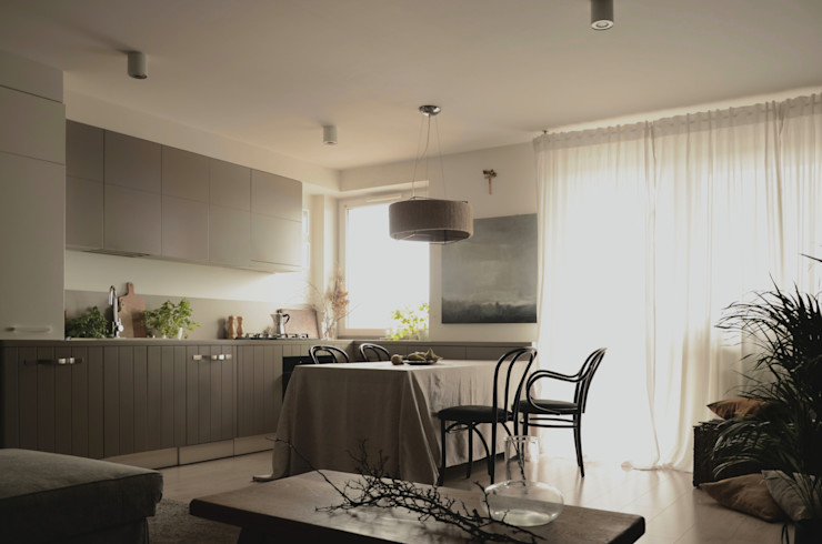 JENO Pracownia Projektowania Naturalnego Кухни в эклектичном стиле