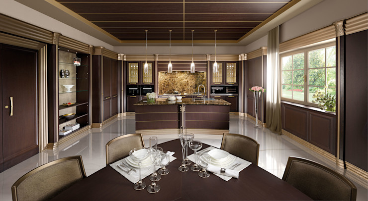 Cucina Lussuosa - Brummel Brummel Cucina attrezzata Legno massello Effetto legno