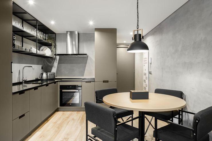 Cais do Pescador - Cozinha 3 D'Coreline CozinhaArmários e estantes Cinzento