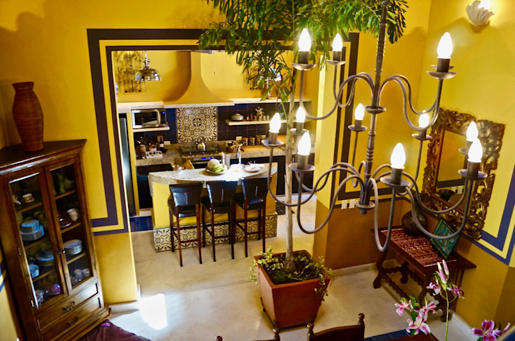 Merida Arquitectos Small kitchens Concrete Yellow