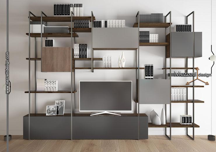 Libreria Mezzettidesign StudioArmadi & Scaffali Legno Grigio