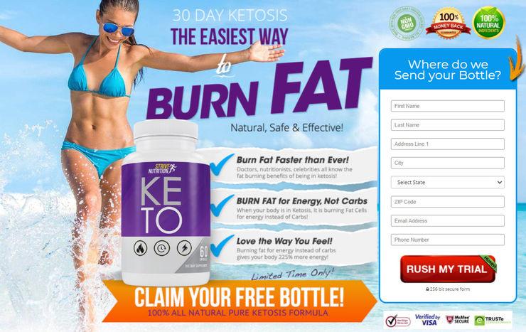 Strive Nutrition Keto Strive Nutrition Keto Diet Dressing roomLighting Glass Transparent