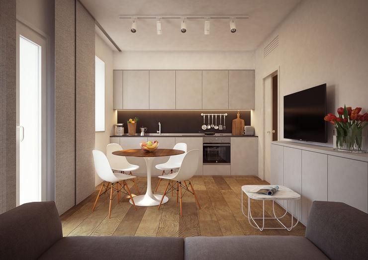 Arch+ Studio غرفة المعيشة خشب White