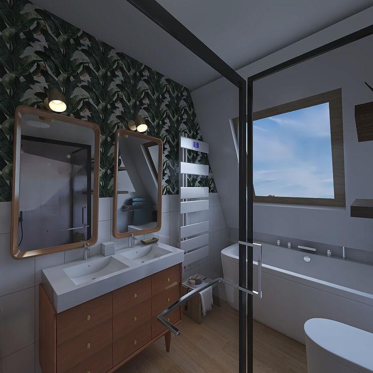 JR Interior Design Tropical style bathroom