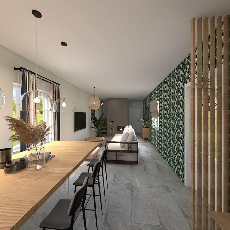 JR Interior Design Modern living room