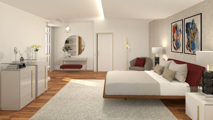 Suite Master Ginkgo Design Studio Quartos pequenos Madeira Cinza