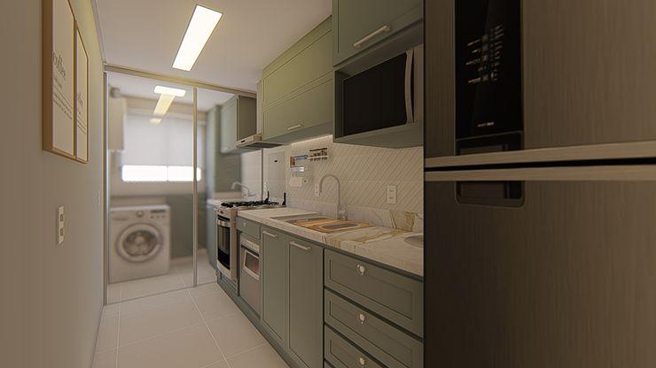 Nesta Espaços Extraordinários Small kitchens