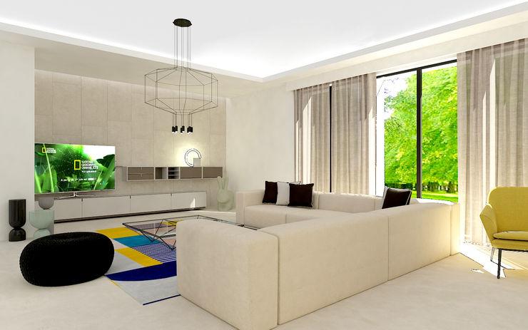 Soggiorno Studio Zay Architecture & Design Cucina attrezzata Cemento Beige