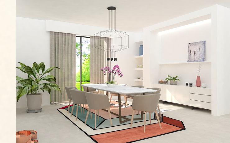 Sala da pranzo Studio Zay Architecture & Design Sala da pranzo moderna Marmo Bianco