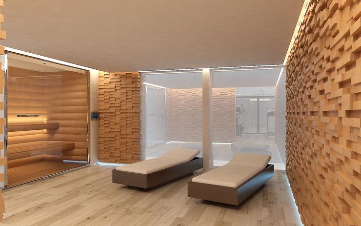 Spa Studio Zay Architecture & Design Bagno turco Legno Effetto legno