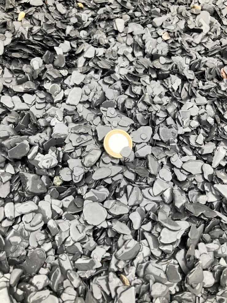 Rounded Crushed Slate 6-12 mm Canteras el Cerro Garden Accessories & decoration Slate Black