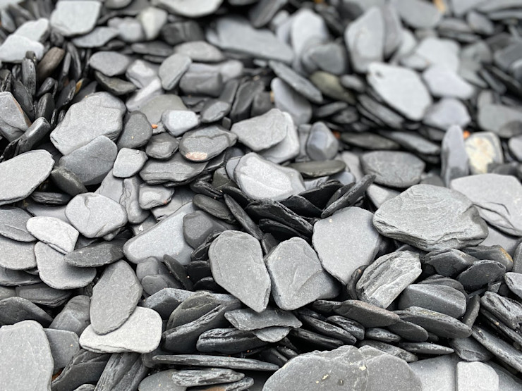 Rounded Crushed Slate 12-40 mm Canteras el Cerro Garden Accessories & decoration Slate Black