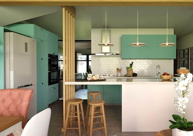 Cocina - Proyecto Vallenar Gabi's Home Muebles de cocinas Turquesa