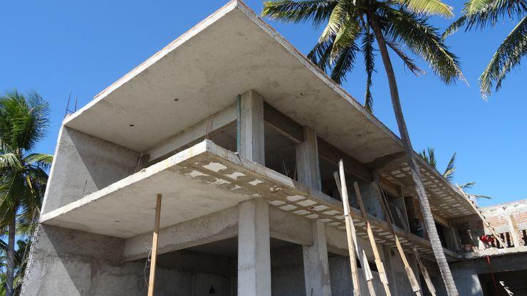 Casa L Struo arquitectura Casas unifamiliares Concreto Blanco
